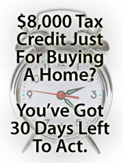 Federal home buyer tax credit