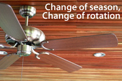 Ceiling fan rotation