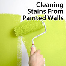 Cleaning stains from walls