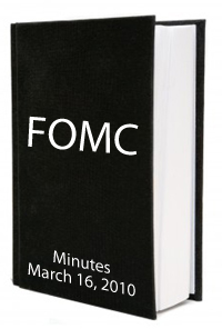 FOMC March 2010 Minutes