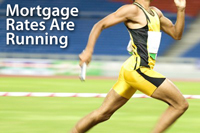 Mortgage rates are running