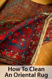 Clean an oriental rug
