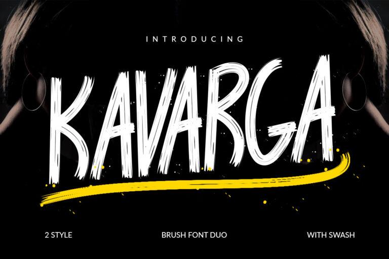 Preview image of KAVARGA – Brush Font