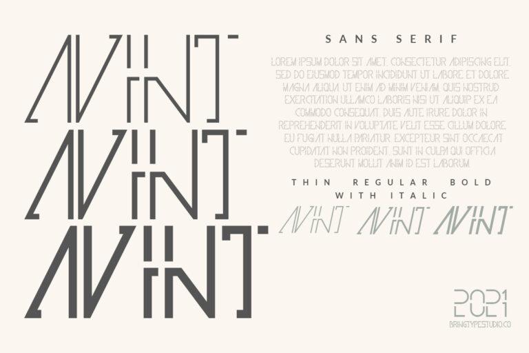 Preview image of Avint   Sans Serif