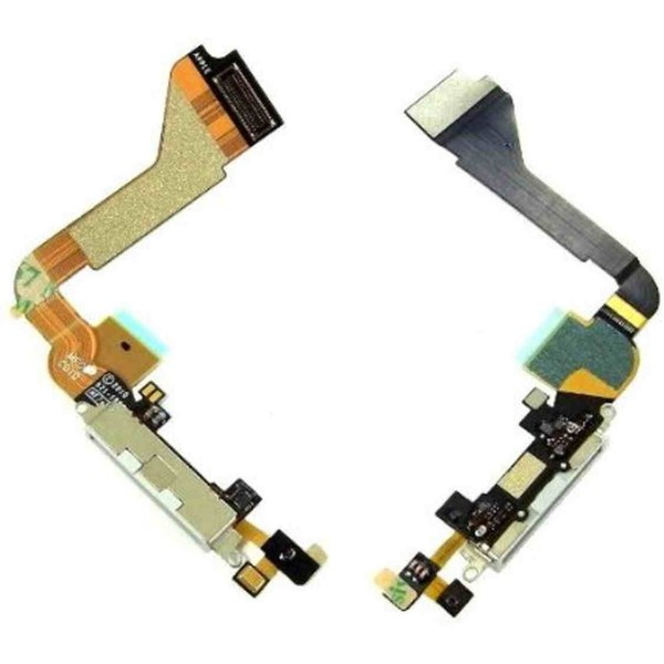 charging connector flex cable for apple iphone 4 4g white maxbhi 7 7 1