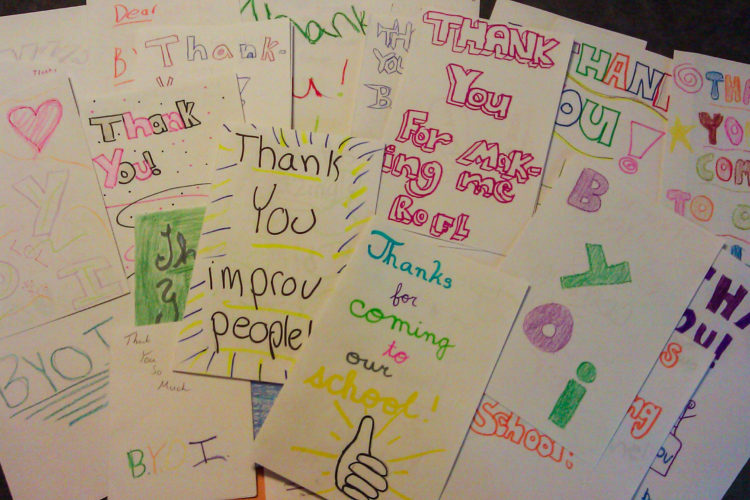 Thank you cards for BYOI