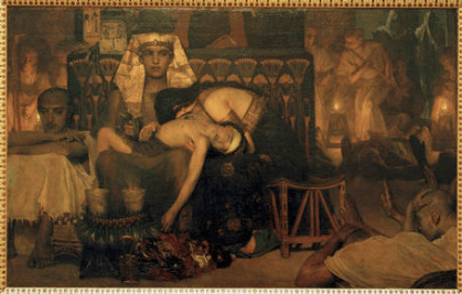 The death of the first-born (1872), L. Alma-Tadema. Amsterdam, Rijksmuseum (von AKG Images)