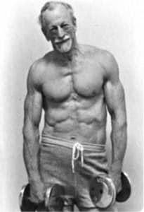 Muscular older man