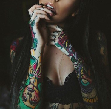 Tattoos on a woman's arm