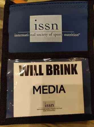 Will's press credentials from the ISSN conference