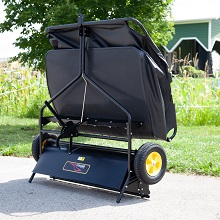 "sweeper storage - 42"" Lawn Sweeper With Dethatcher 