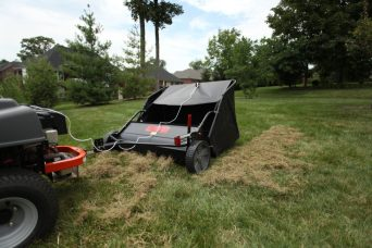 Brinly Lawn Sweeper - Lawn Sweepers: The What, How, & When