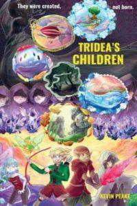 tridea's children kevin peake cover art book stack