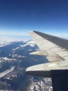 Flying north from Seattle to Ketchikan