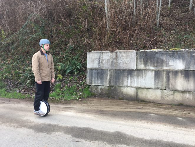 Me on my Electric Unicycle