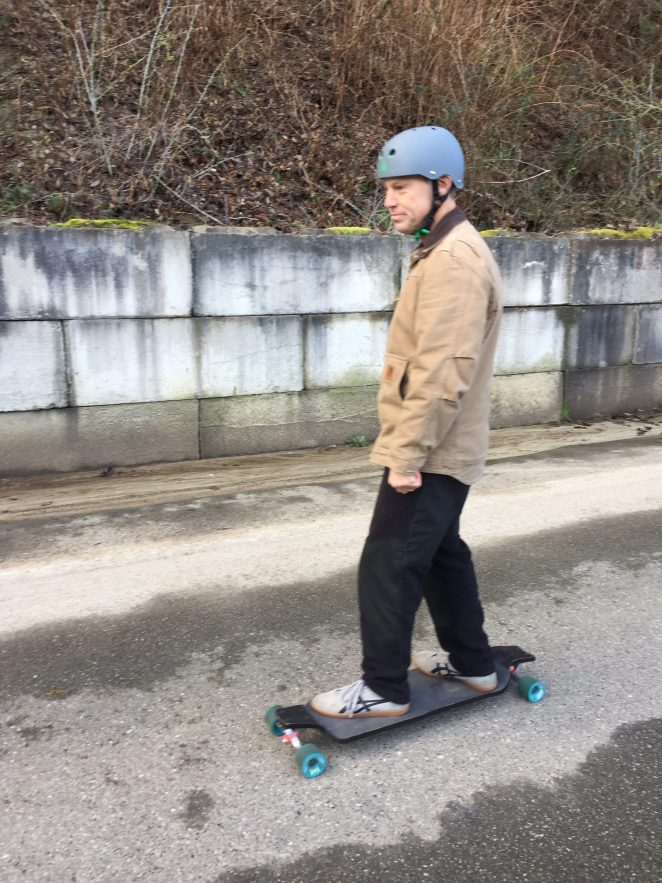 Riding my Longboard on Whidbey