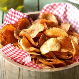 Home made and hand cut potato chips available at Brio Tapas Bar & Restaurant in Clapham. Click and collect option.