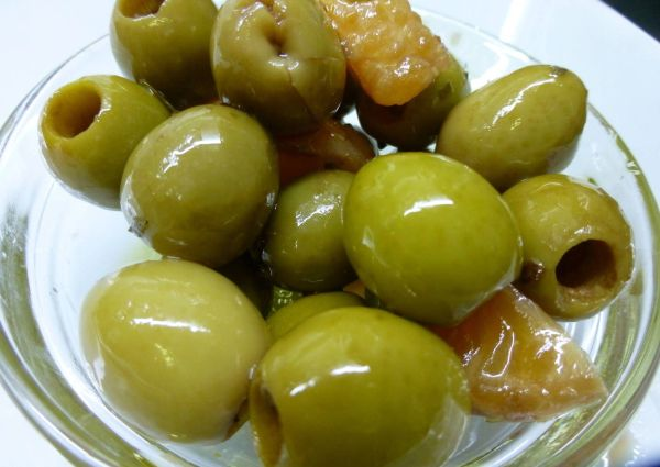 Marinated olives. Click and collect in Clapham.