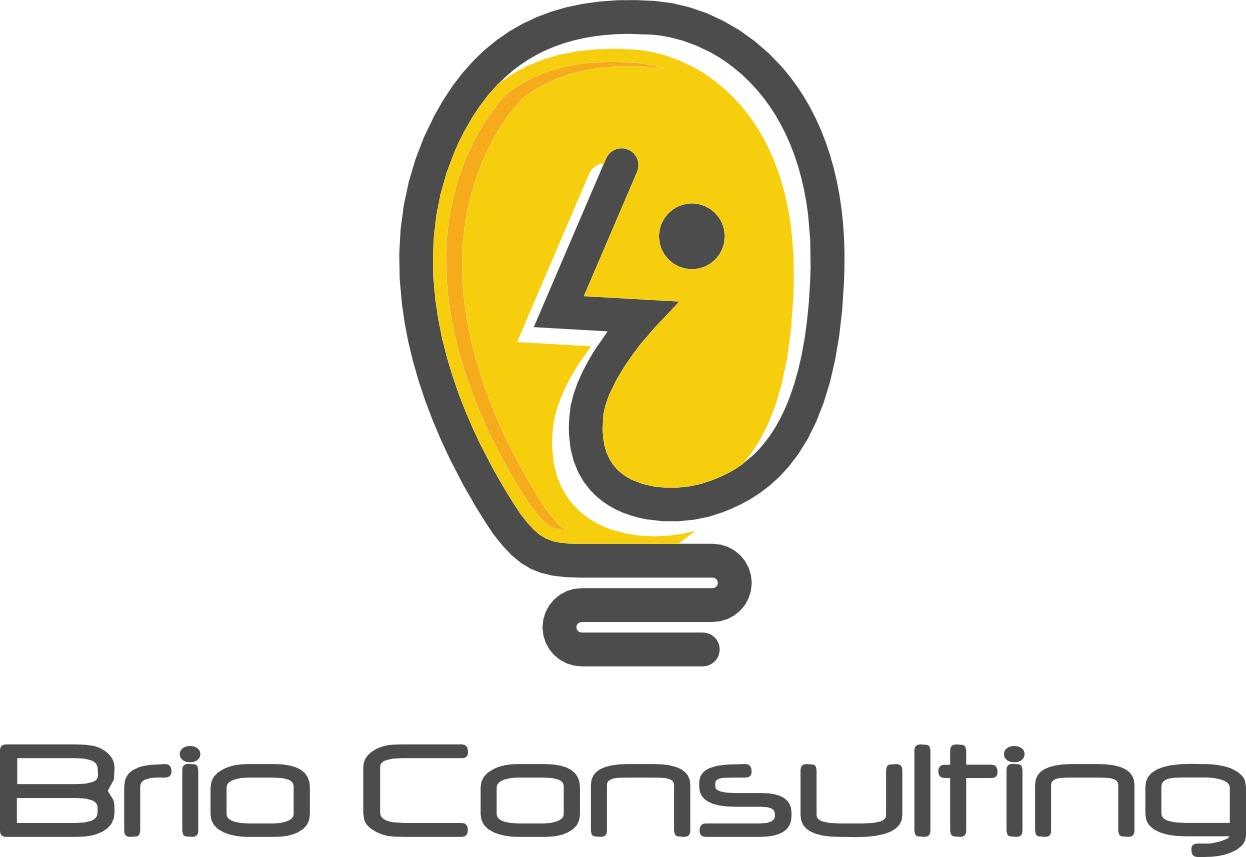 Brio Logo of a light globe head