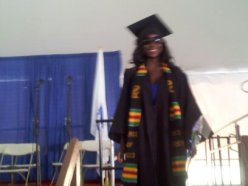 Walking across the stage
