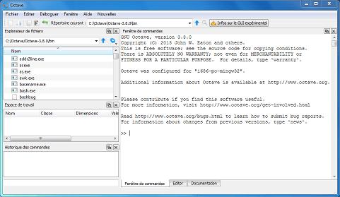 GNU Octave 3.8.0 : enfin une interface graphique pour le clone libre de MATLAB