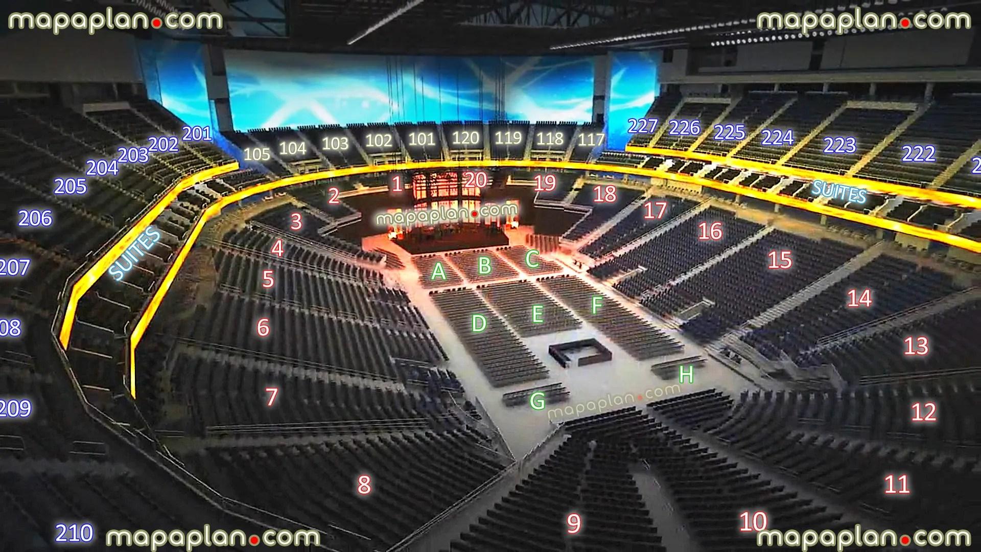 hight resolution of new t mobile arena las vegas seating chart 02 view seat section row virtual concert stage