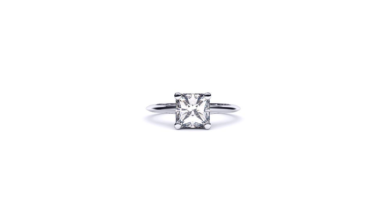 Brisbane diamond engagement ring radiant solitaire in platinum