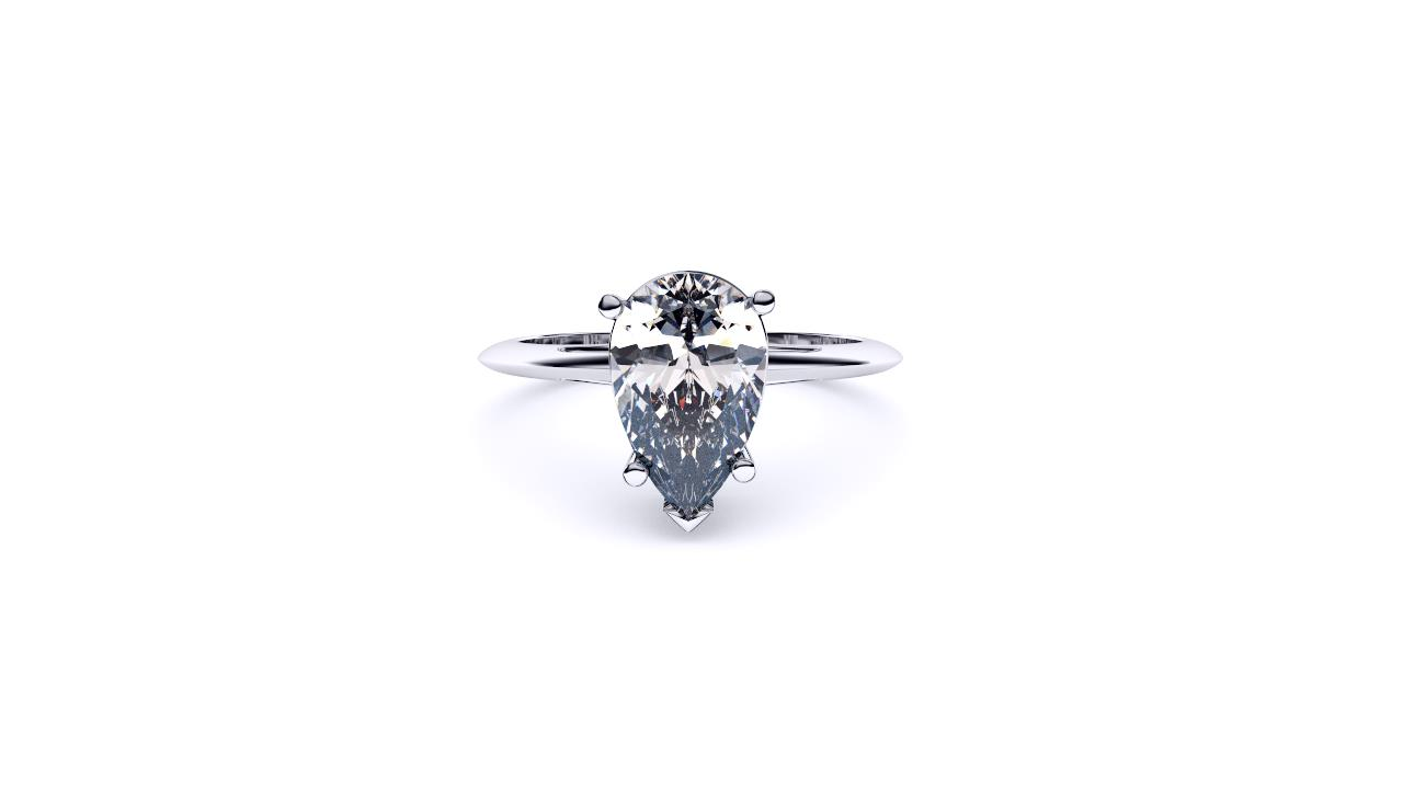 Brisbane diamond engagement ring pear solitaire front view slide