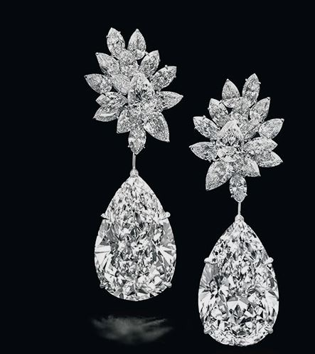 Fabulous Pear Shape Diamond Earring from Christie's Magnificent Jewell's New York Auctions
