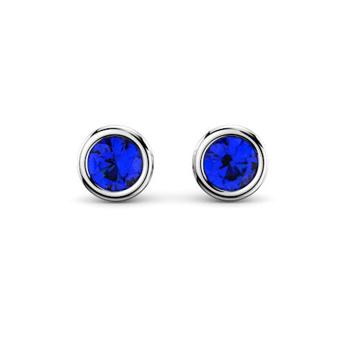 brisbane diamond company gemstone bezel stud earrings
