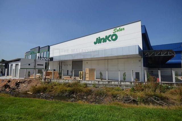 Jinko solar panels factory