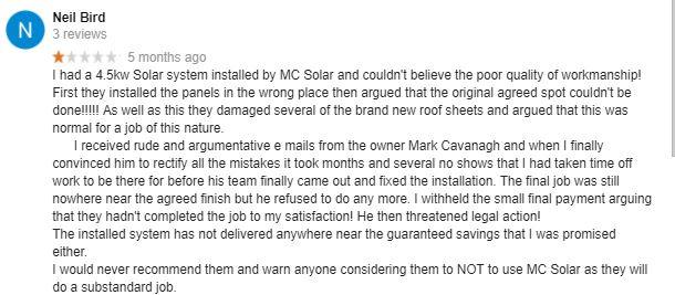 Mc electrical reviews