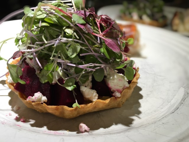 Beetroot Goat Cheese Tartlet