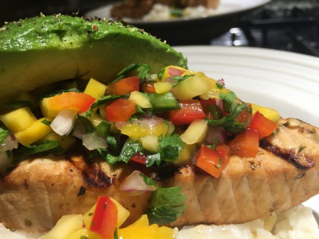 mango salsa on fish