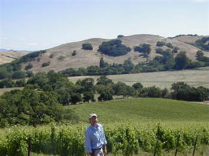 Stew in his Marine vineyard. Photo courtesy of Kendric Vineyard website