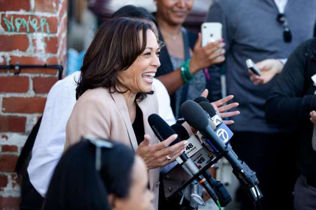 amala Harris, the U.S. senator from California, is presidential candidate Joe Biden's pick for vice president. It turns out that she has good taste in wine. Photo: Brittany Hosea-Small / Special to The Chronicle 2019