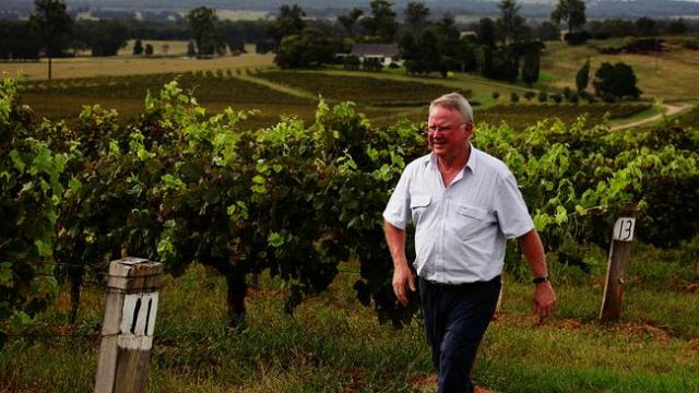 Veteran winemaker Bruce Tyrrell at his winery in the Hunter Valley in NSW.Source:News Corp Australia