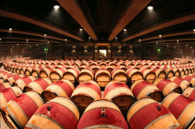 The cellars at Opus One. Credit: Roberto Soncin Gerometta / Alamy Stock Photo