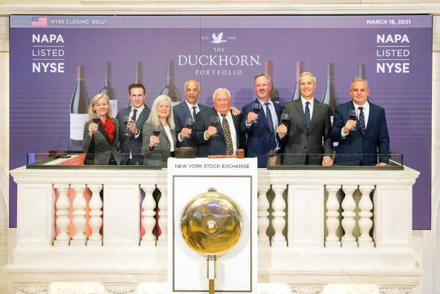 On March 18, Duckhorn executives rang the closing bell on The New York Stock Exchange / Photo via NYSE