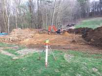 Excavation project for a new barn.