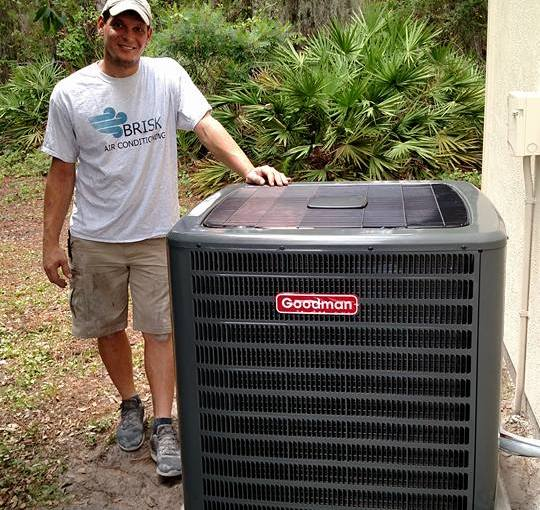 Brisk Air Conditioning, LLC Venice FL new AC Fan Condenser - Air Conditioning Service