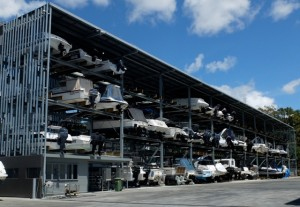 Boat storage at Manly Boat Harbour Brismania