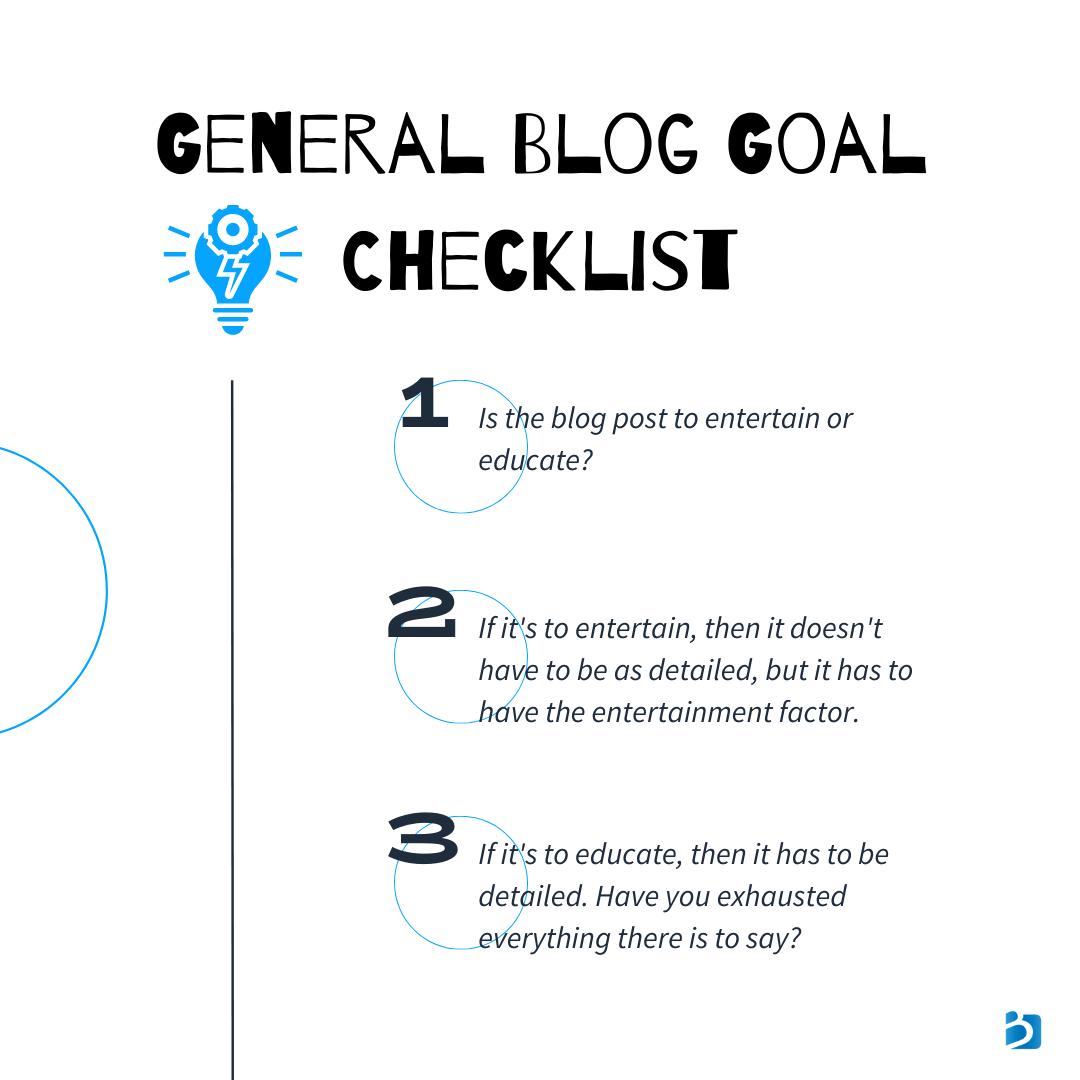 business blog checklist