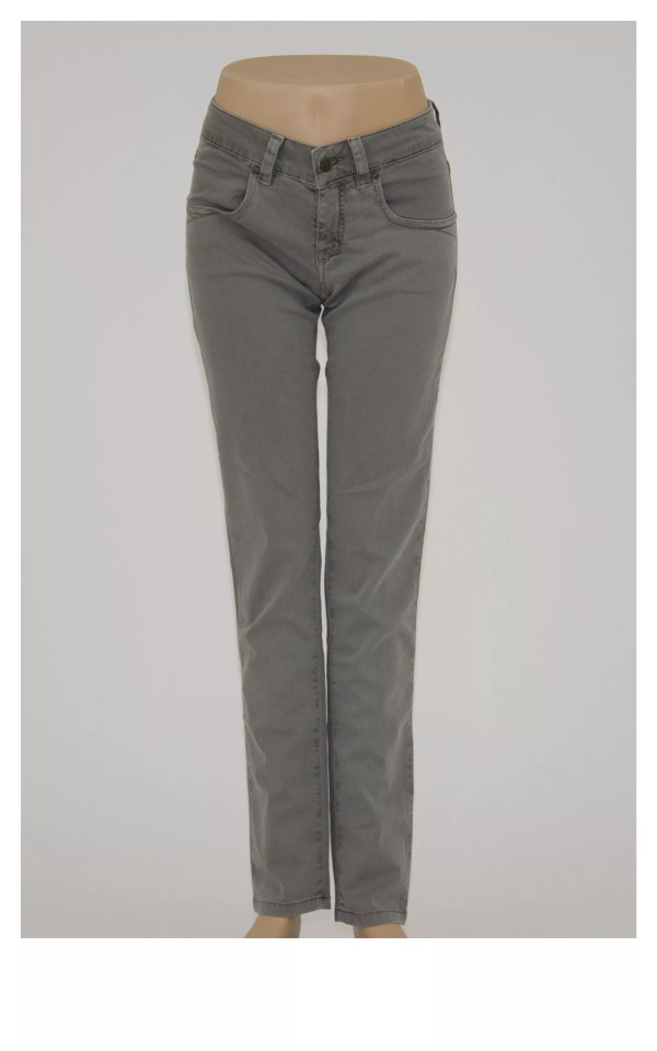 Jeans donna 4 tasche con zip e bottone- Miit Jeans