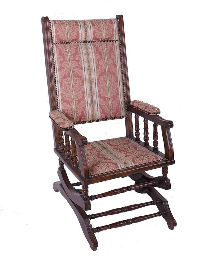types of rocking chairs couture chair covers glasgow a late victorian stained beechwood american type lot