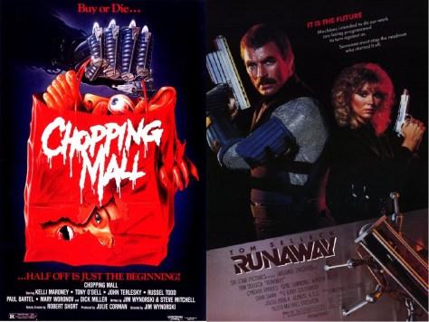 Chopping Mall-Runaway double bill