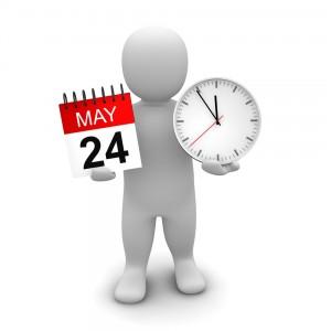 An human icon holding a calendar and a clock - Mississauga Dentist - Bristol Dental