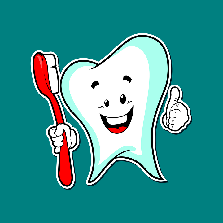 An animated tooth holding a toothbrush - Mississauga Dentist - Bristol Dental