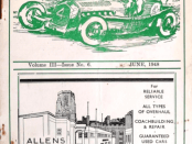 The cover of the June 1948 journal of Bristol Motor Club