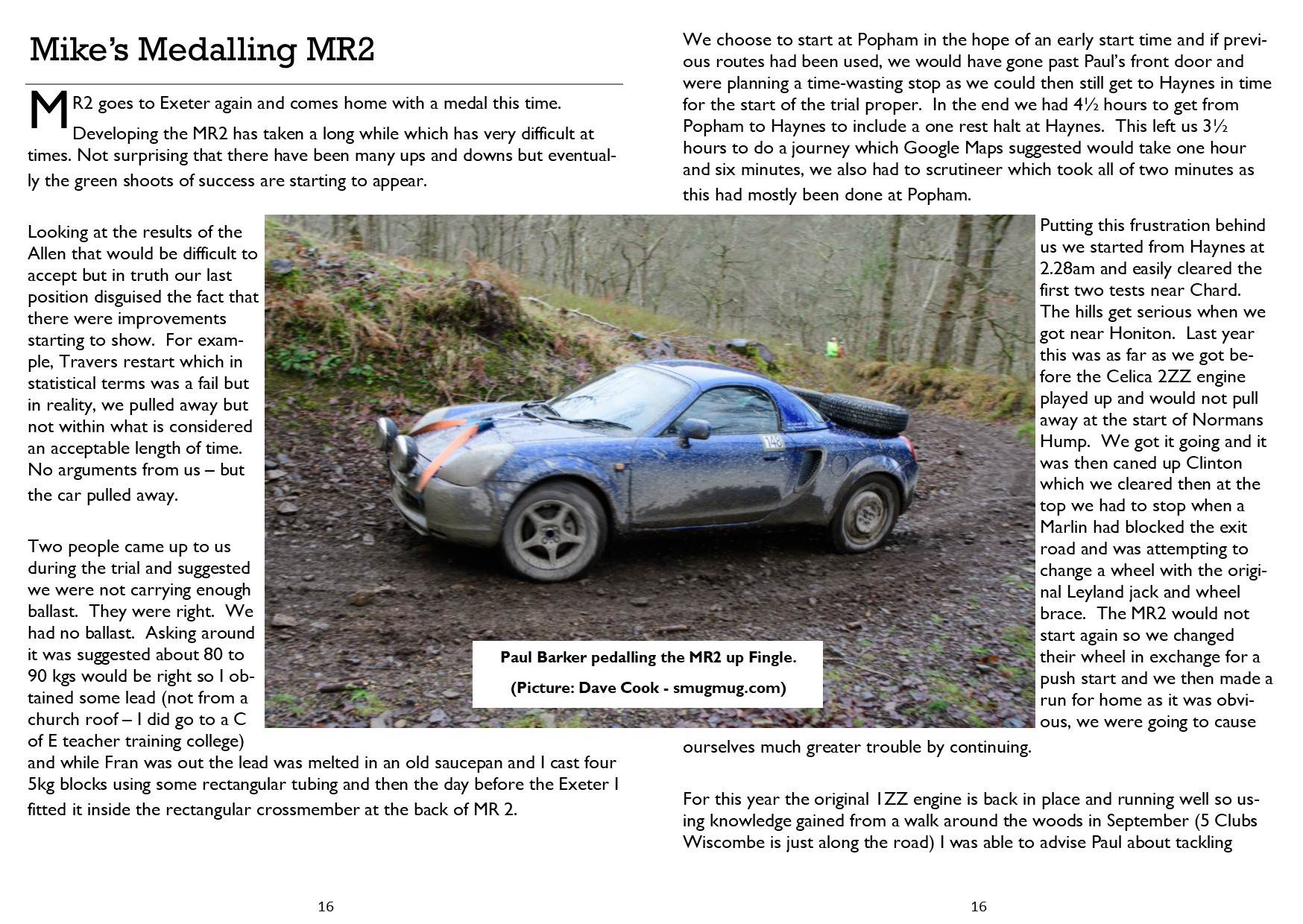 Driving Mirror Jan – Feb 2020 (Medalling MR2)